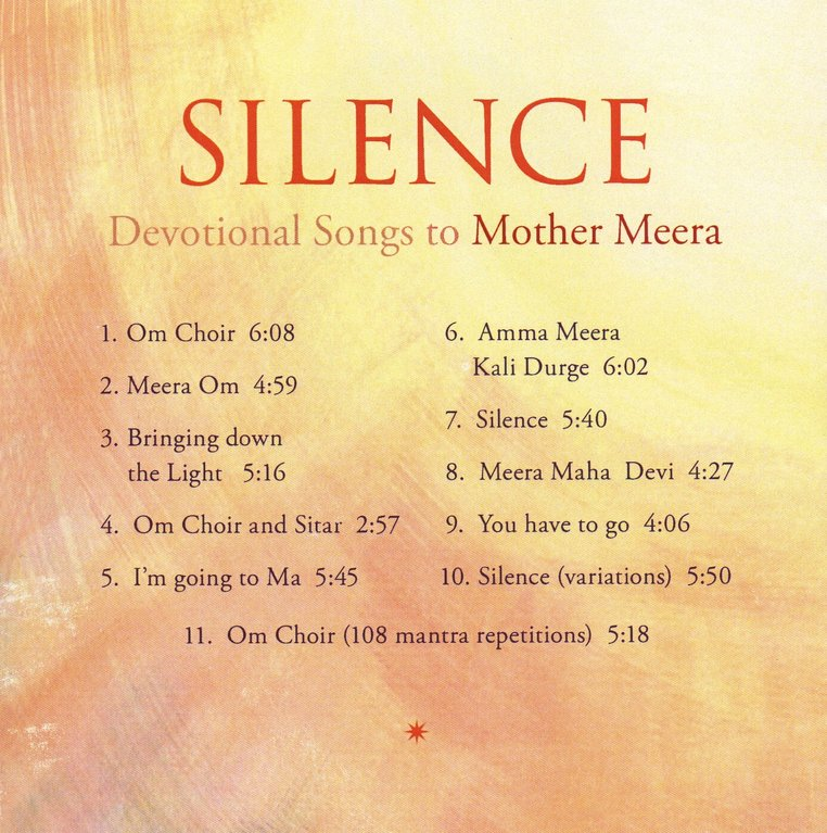 Silence, mp3 download - Mother Meera Shop